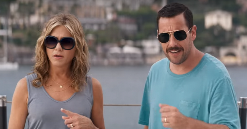 Jennifer Aniston and Adam Sandler talk each other up at